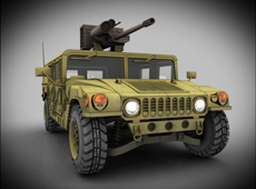 Hummer with M242 Bushmaster